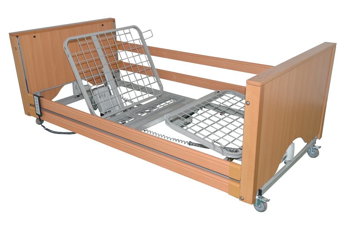 Profiling low bed with integral side rails