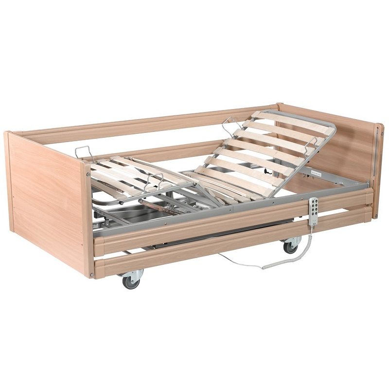 Sicissors lifting home care bed